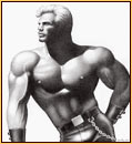 Tom of Finland original graphite on paper drawing depicting a male seminude in fetish gear